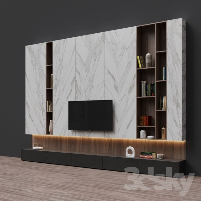 Small Wall Units Mid Century Modern In 2020 Wall Unit Decor Tv Wall Unit Fireplace Tv Wall