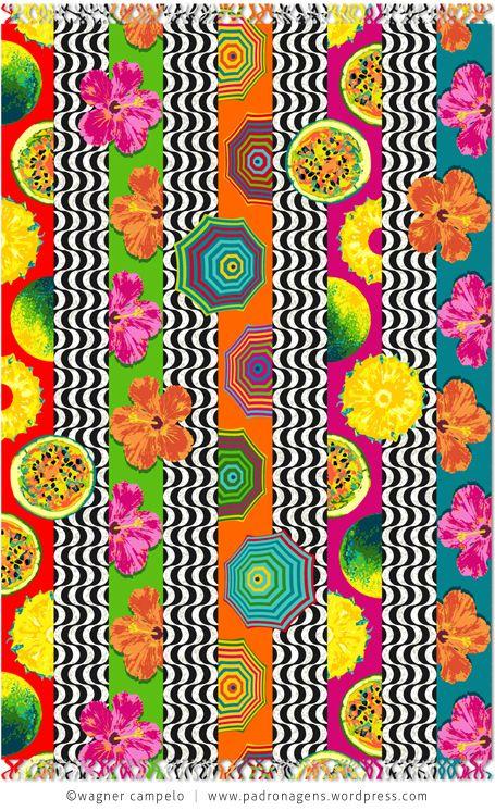 Wagner Campelo. Com base na estampa Ipanema-Leblon desenvolvi a versão COPACABANA, que intercala a representação do calçadão e motivos similares aos da padronagem original, mas com características distintas.