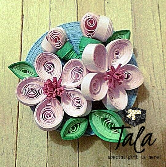 #talapaperquilling #paperart #craft #gift #art #jakartaolshop #jakartaonlineshop #handcraft #cute #customorder #jakarta #asia #indonesia #sakura #bunga