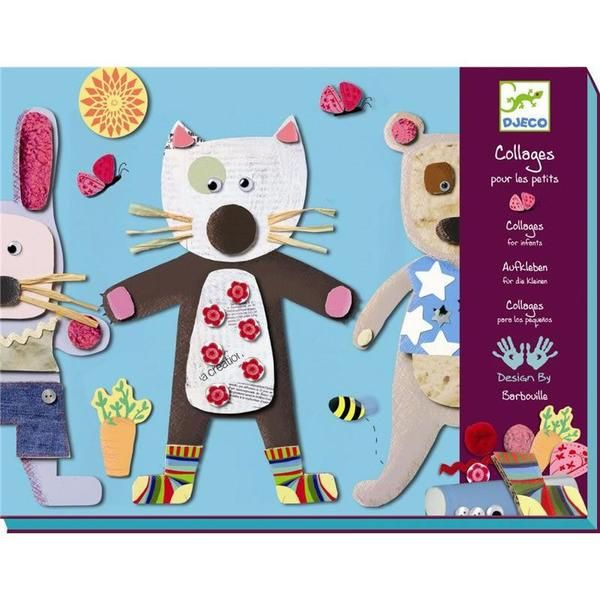 Djeco Collages For Little Ones Craft Kit