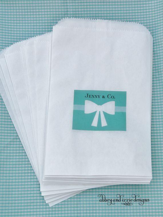 Tiffany Blue Candy Bags