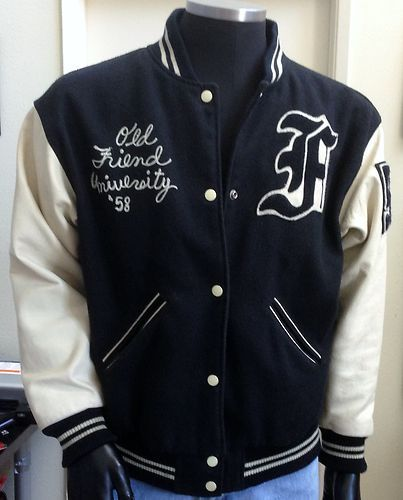 Rare 80 S Vintage 58 Forenza Leather Varsity Letterman