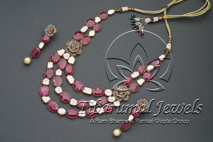 Victorain Necklace Set | Tibarumal Jewels | Jewellers of Gems, Pearls, Diamonds, and Precious Stones
