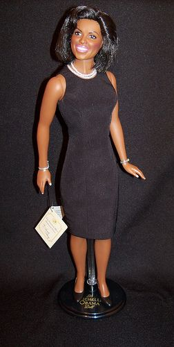 michelle obama doll | Franklin Mint Michelle Obama Doll