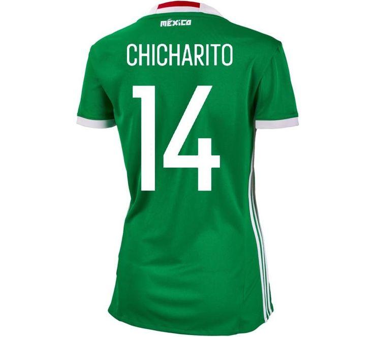 Adidas #14 Chicharito Mexico Home Women Soccer Jersey Copa America 2016  #adidas