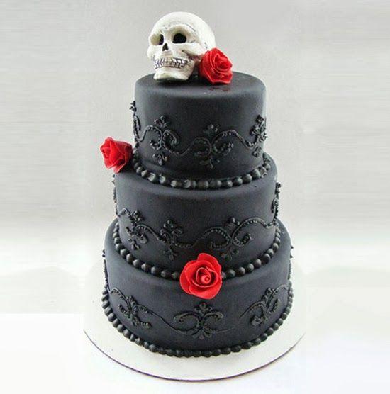 Halloween Cake Decorations Uk : 46 best Halloween Wedding Cake Ideas images on Pinterest ...
