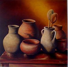 cuadros con vasijas pintura - Buscar con Google