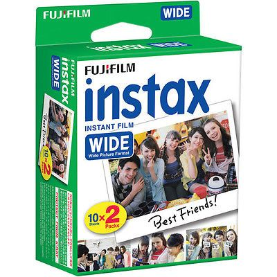 40 Prints Fujifilm Instax Wide Film for Instax 200/210 and 300 Camera