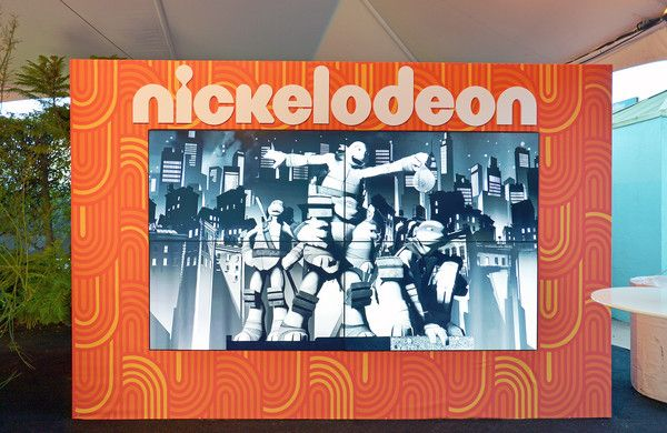 A view of the live digital photo mosaic wall during Nickelodeon's celebration of the new Burbank facility on January 11, 2017 in Los Angeles, California. From Picture Mosaics