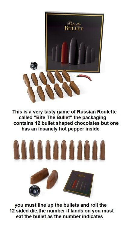 Chocolate Russian RoulettesRussian Roulette, Bachelorette Parties, Funny Pics, Chocolates Covers, The Games, Families Games, Games Night, Funny Memes, Parties Games