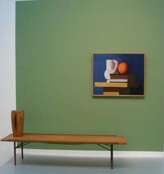 kitschgirl65: Home of Finn Juhl - The Table Bench (1953) Danish Furniture Design Erik Thommesen: Woman (1962) Private Collection Vilhelm Lundstrøm: Still Life (1932-33)