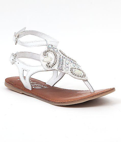 Naughty Monkey Beautified Sandal - Women's Shoes in White