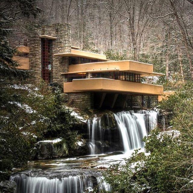 Fallingwater by Frank Lloyd Wright #franklloydwright