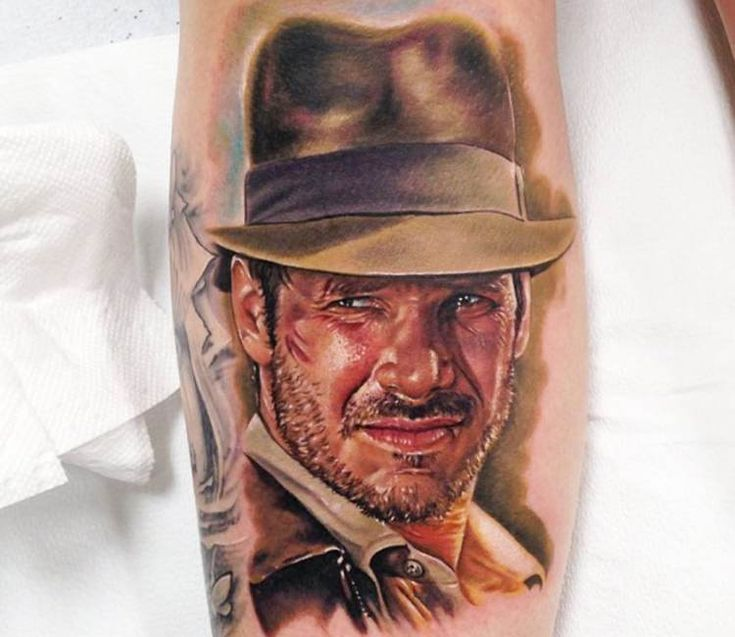 Indiana Jones tattoo by Kris Busching