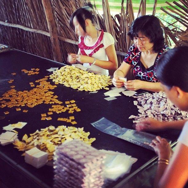 Vietnam candy home factory.