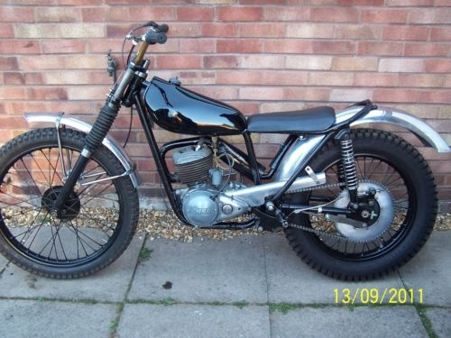 bsa bantam trials in.. black.  did i really drive one of these... eek