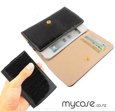 Universal Smartphone Leather Case iPhone/HTC-Black