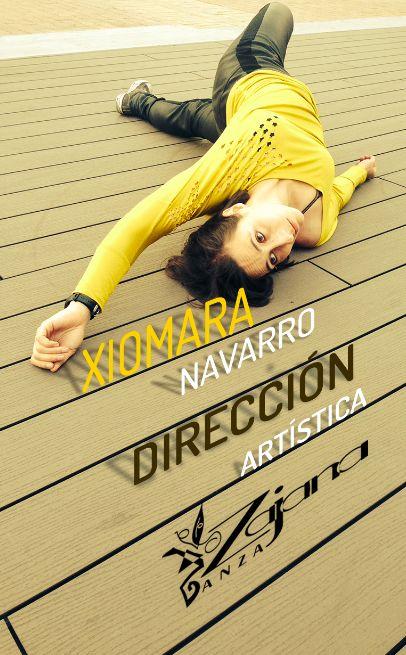 Tarjeta personal, bailarina Xiomara Navarro. Nicolás Altamar