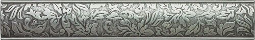 Cast Metal Decoratives - Brushed Nickel Dorset Damask Border 2x12