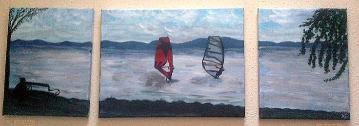 Surfers on Balaton