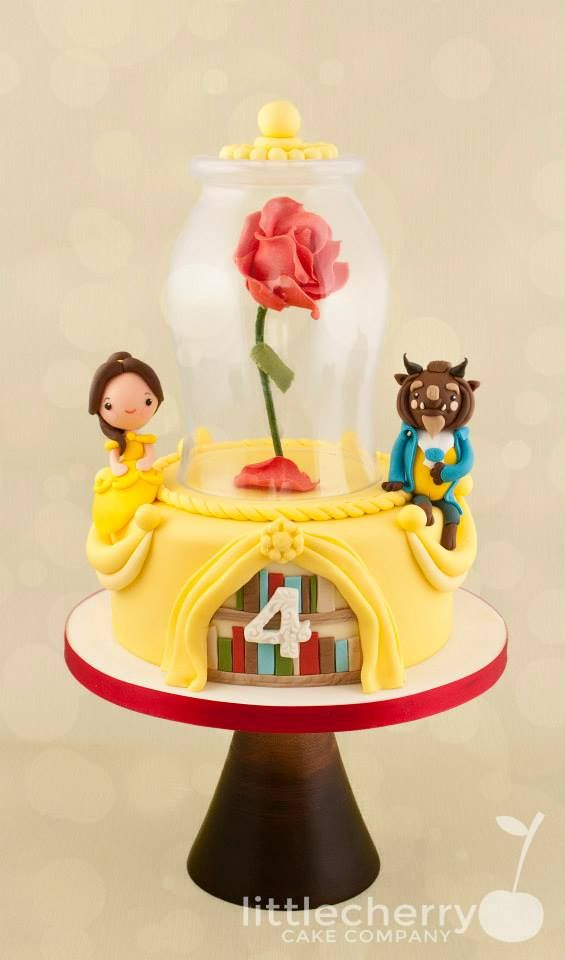 Beauty & The Beast Cake - For all your Princess cake decorating supplies, please visit http://www.craftcompany.co.uk/occasions/party-themes/princess-party.html