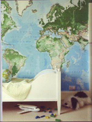 http://loftandcottage.blogspot.com/2010/04/tuesday-tip-decorate-with-maps.html