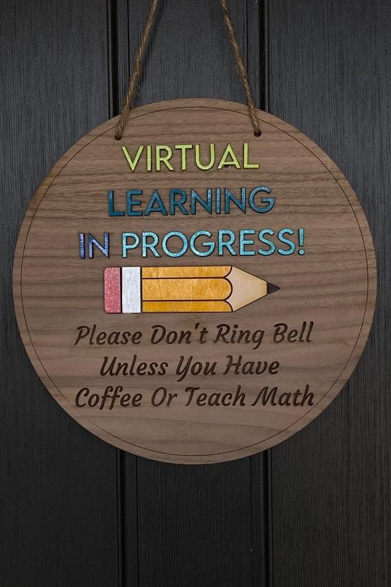 Home School Door Sign E-Learning Online Virtual School Door Sign for Home ELR642 Do Not Disturb Sign for Door Indoor or Outdoor Kids
