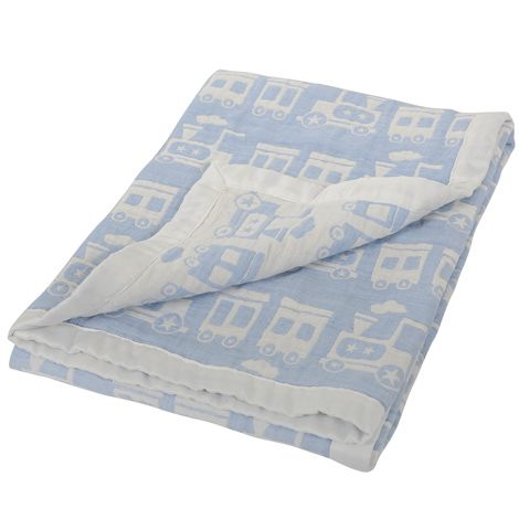 Silvercloud Double Sided Muslin Blanket Train https://www.everything4youbabies.com/index.php/catalog/product/view/id/172/s/silvercloud-double-sided-muslin-blanket-train/ #furniturefurnishings #blankets