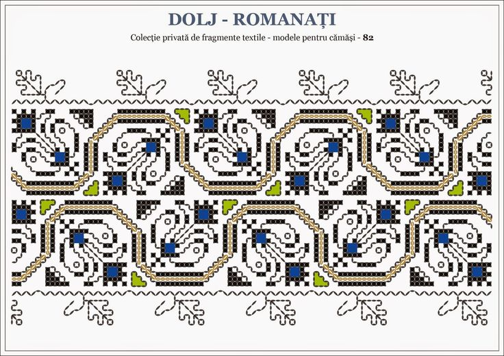 Romanian traditional motifs - OLTENIA Dolj - Romanati
