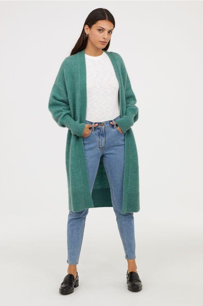 ed43a23aee4e Long Wool-blend Cardigan in 2019 | MY FASHION TRAVEL | Mint cardigan ...