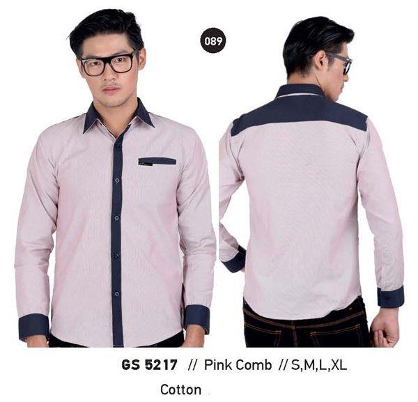 Kemeja panjang Kemeja pria baju kemeja terbaru batik murah 2015 GS 5217