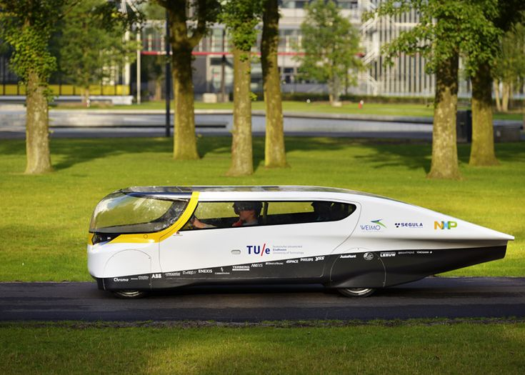 Solar-powered family car by Eindhoven University of Technology #solar #design