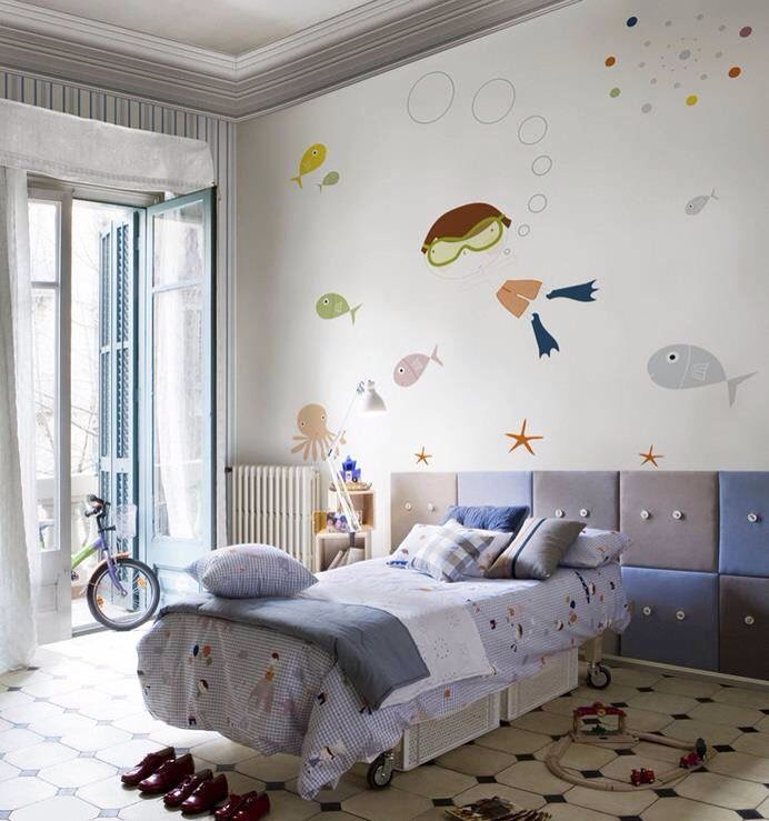 Cute boys room idea with fishes!