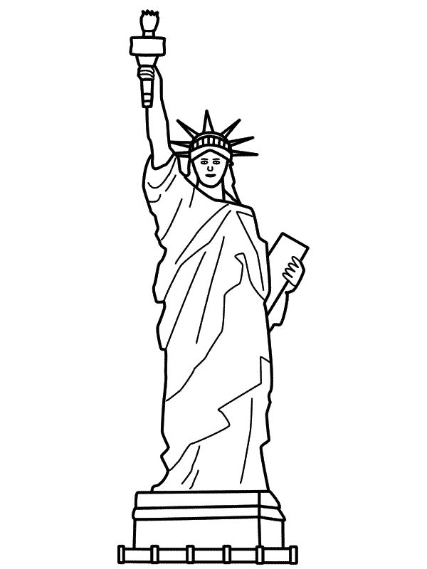Free Printable Statue of Liberty Coloring Pages For Kids ...