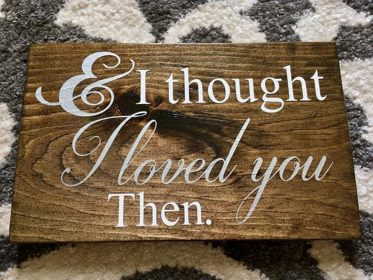 """Silver + white paint + a dark stained board + Brad Paisley lyrics = ���� This sign was ordered as a wedding gift for a couple whose wedding song is, you guess it, """"Then"""" by Brad Paisley. #heart #love #family #woodensign #woodworking #ottawa #canada #weddinggift #customsigns #bradpaisley http://gelinshop.com/ipost/1517669545484061558/?code=BUP2GkhAYt2"""