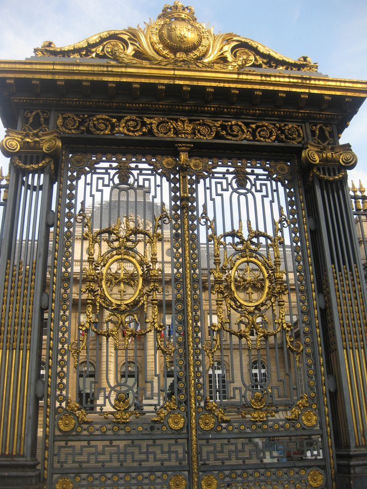Gate At The Palace Of Versailles France Doors Of The