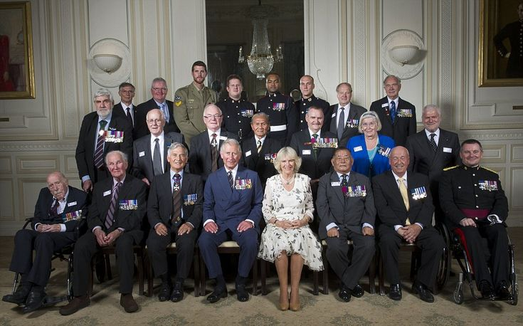 The Prince of Wales, President of The Victoria Cross and George Cross Association, and The Duchess of Cornwall attended a Victoria Cross and George Cross Association tea party at the In & Out, 4 St James's Square, London.
