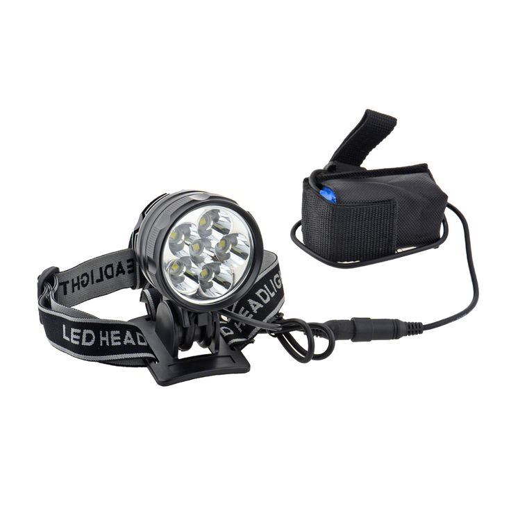 6 R8 LED Rechargeable Bike Headlight Black