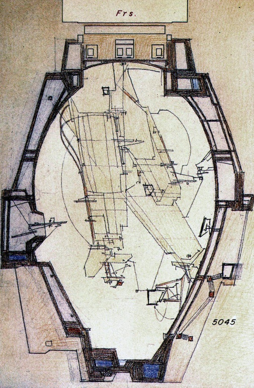 Drawing from Underground Berlin by Architect/Engineer Lebbeus Woods--a favorite designer!