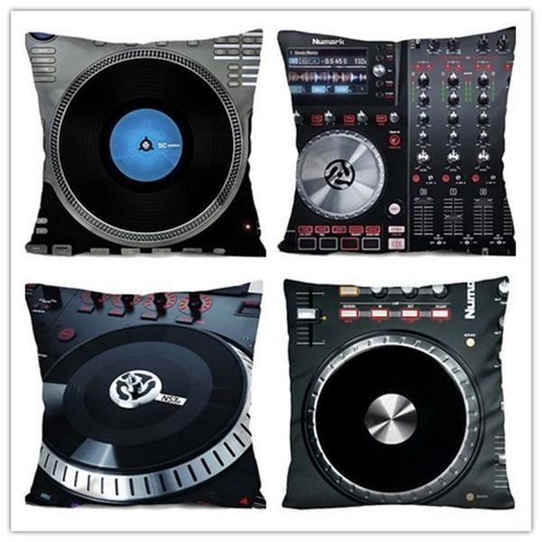 DJ mixer zippered pillow case