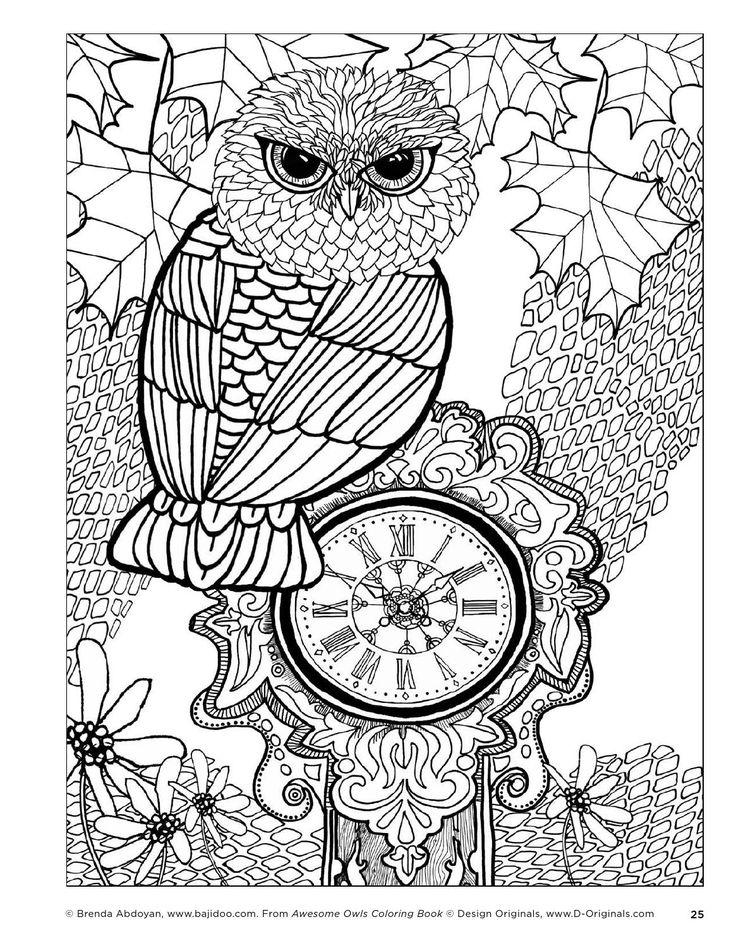 442 besten owl coloring pages uil kleurplaten bilder auf. Black Bedroom Furniture Sets. Home Design Ideas