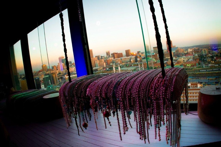 Swing along! Interior of Randlords.  Venue for the launch of the Morongwa House of African fashion. www.mhafricanfashion.co.za