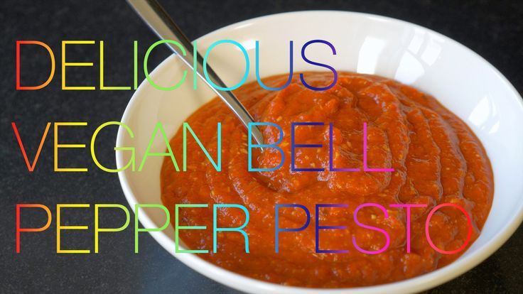 Delicious Vegan Bell Pepper Pesto with Chili & Almonds