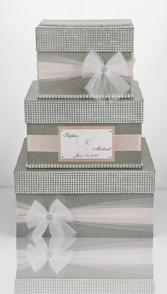Card box / Wedding Box / Wedding money box 3 tier by DiamondDecor