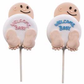 welkom baby koekjes pops