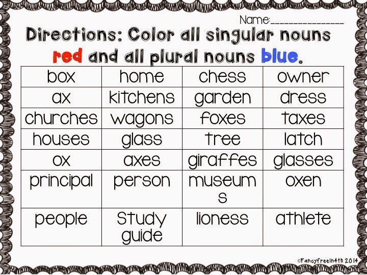 Plural and Singular Activity Pack