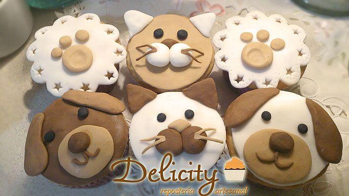 Perros y gatos - cupcakes