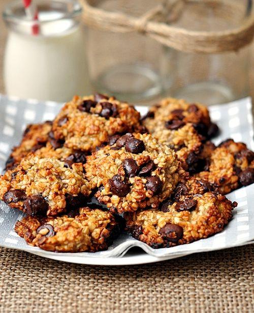 Flour-less) Banana, Oatmeal & Chocolate Chips Cookies! | Recipes ...