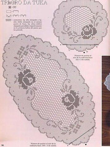 Croche maravilha de arte: Toalhinhas com gráfico