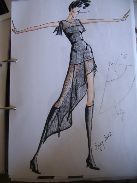 Fashion drawing from my sketchbook